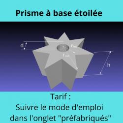 Prisme à base étoilée